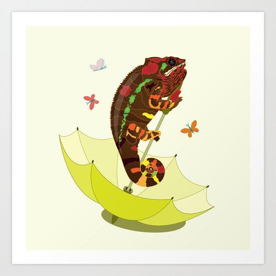 A Big Chameleon Art Print