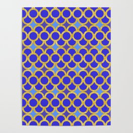 Blue Gold Scales Poster