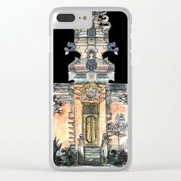 Ubud Temple, Bali, Indonesia Clear iPhone Case