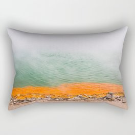 Orange Edged Rectangular Pillow