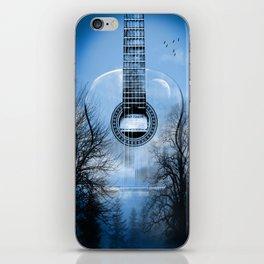 music blue  iPhone Skin