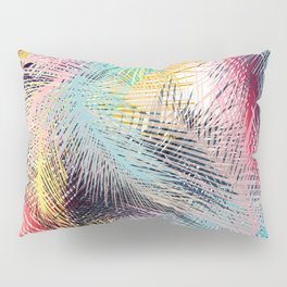 Jungle pampa colorful forest. Tropical fresh forest pattern with palms Pillow Sham
