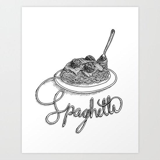 pasghetti Art Print