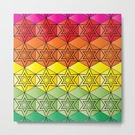Tetra Hexa Spectrum Metal Print
