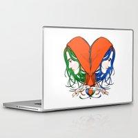 nietzsche Laptop & iPad Skins featuring Clementine's Heart by castlepöp