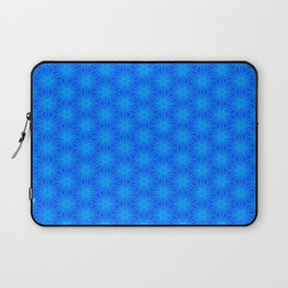 Bright blue on blue star pattern design Laptop Sleeve