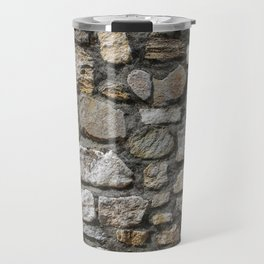 Stone wall texture. Travel Mug