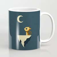 anime Mugs featuring Moon Cat by Freeminds