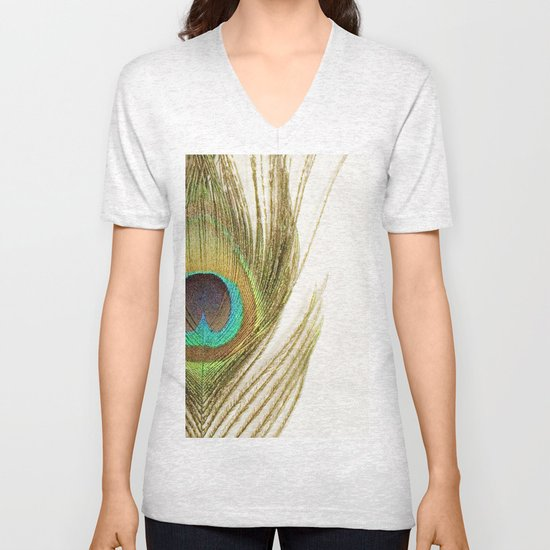 Peacock Feather Unisex V-Neck