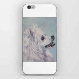 American Eskimo Dog portrait Fine Art Dog Painting by L.A.Shepard iPhone Skin