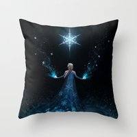 frozen Throw Pillows featuring Frozen by Westling