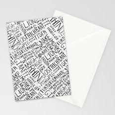 Animal Block Stationery Cards