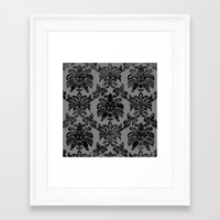 damask Framed Art Prints featuring DAMASK by pike design