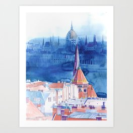 Morning in Budapest Art Print