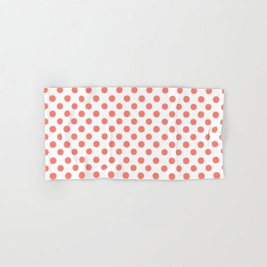 Polka Dots (Salmon/White) Hand & Bath Towel