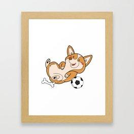 Corgi Dog Gifts Cute Puppy Pets Framed Art Print
