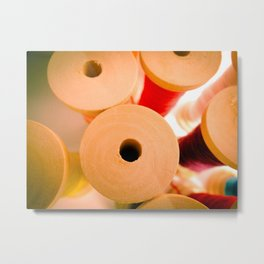 Wooden Spool II Metal Print