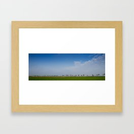 The End of Groningen Framed Art Print