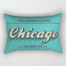 Vintage Chicago Rectangular Pillow