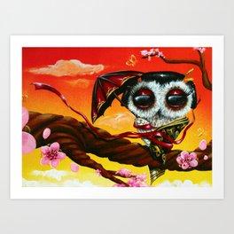 geisha owl Art Print