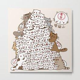 Cat Tower Metal Print