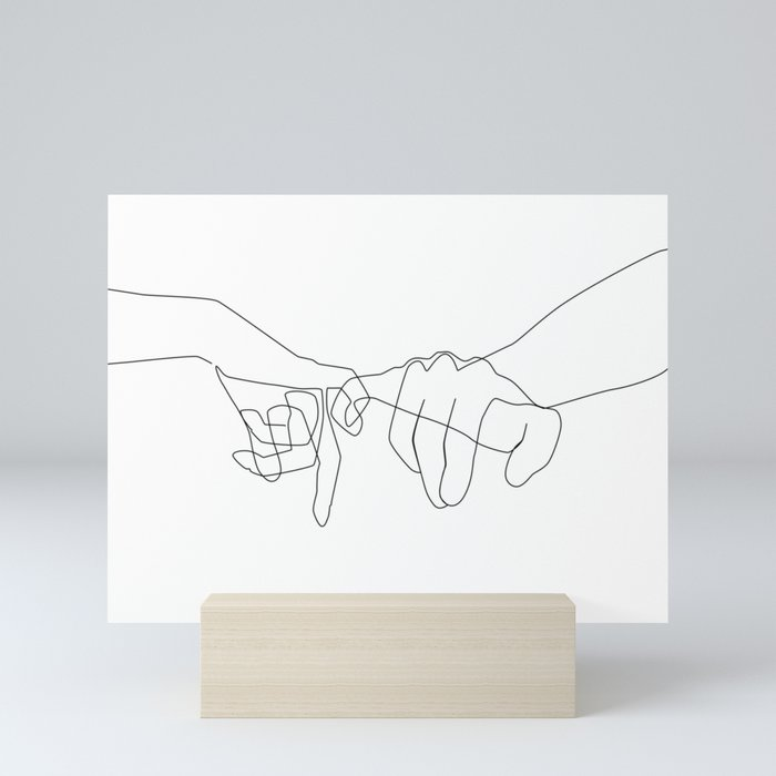 Pinky Swear Mini Art Print