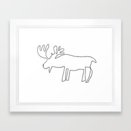 Line Moose Framed Art Print