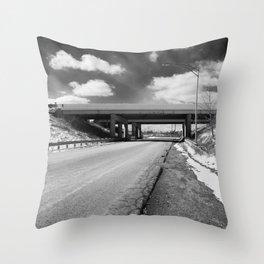 Rock Riffle Rd, Athens, Ohio Throw Pillow