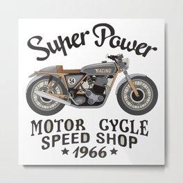 Motor super power Metal Print