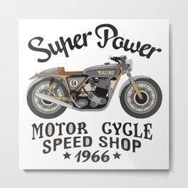 Motor super power Metal Print