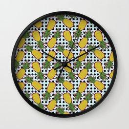 Polka Pinapples Wall Clock