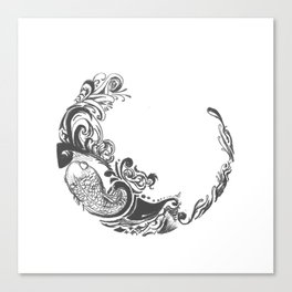 Koi Wreath Canvas Print