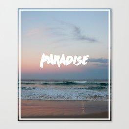 Paradise on the beach Canvas Print