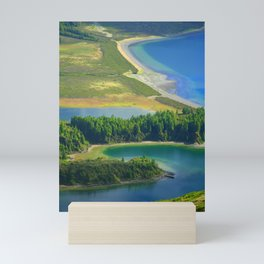 Colorful lake Mini Art Print