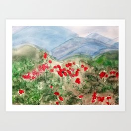 Spring in the Smoky Mountains  Art Print