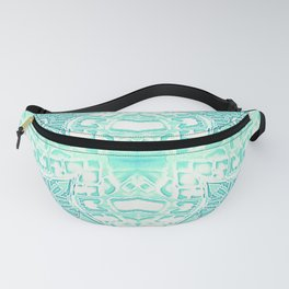 Seafoam Teal Gothic Stars Fanny Pack