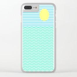 Coastline (Sunrise Blue) Clear iPhone Case