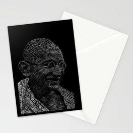 Mahatma Gandhi Typography portrait Stationery Cards