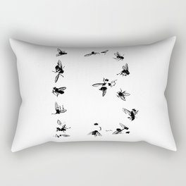 13 Flies Rectangular Pillow