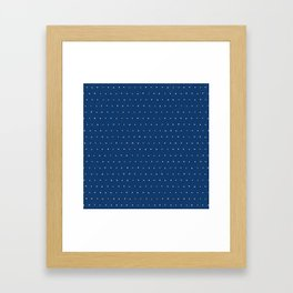 Geo Triangles Sea Framed Art Print