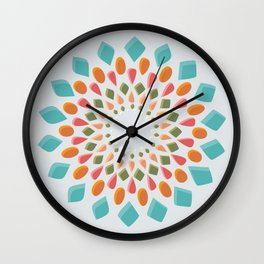 Gem Wheel Wall Clock