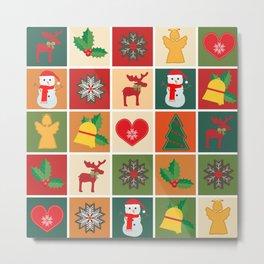 Christmas Collage Metal Print