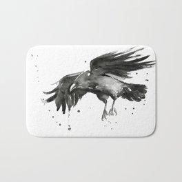 Raven Watercolor Bath Mat