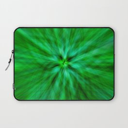 Green Star Flower Glow Laptop Sleeve