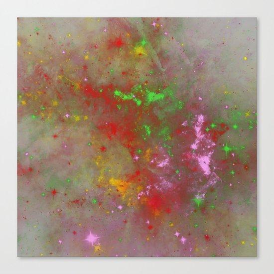 When Galaxies Meet Canvas Print