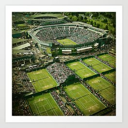 Wimbledon Tennis Art Print