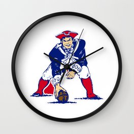 New England Patriot Old Wall Clock
