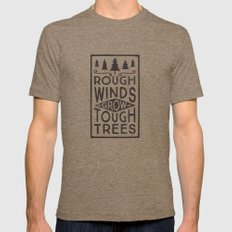 TOUGH TREES Tri-Coffee Mens Fitted Tee LARGE
