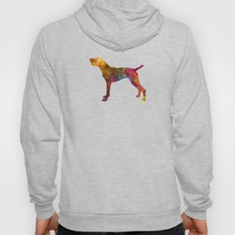 German Shorthaired Pointer in watercolor Hoody