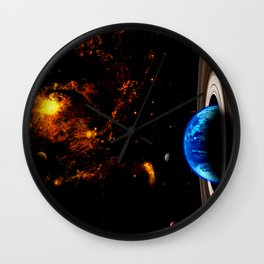 Earth Orbit Wall Clock